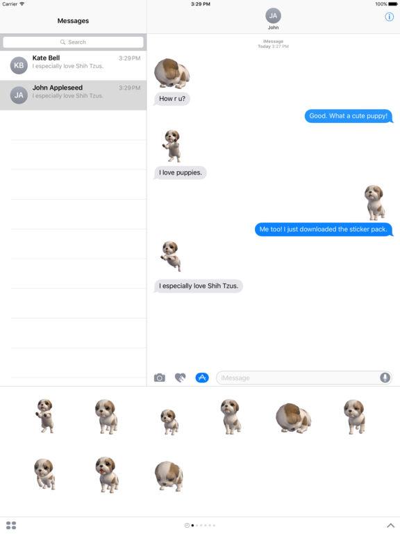 Shih Tzu - Animated Puppy Stickers screenshot 6