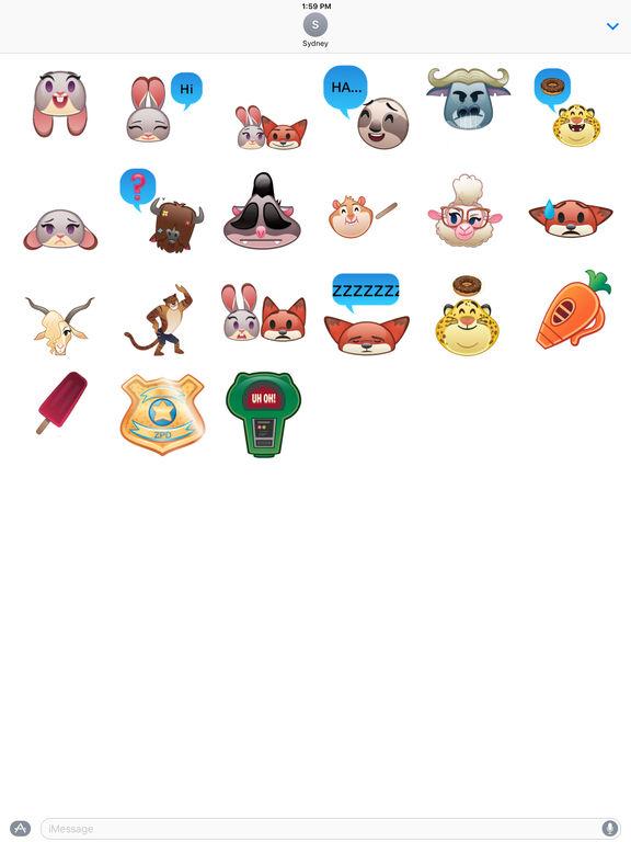 Disney Stickers: Zootopia screenshot 7