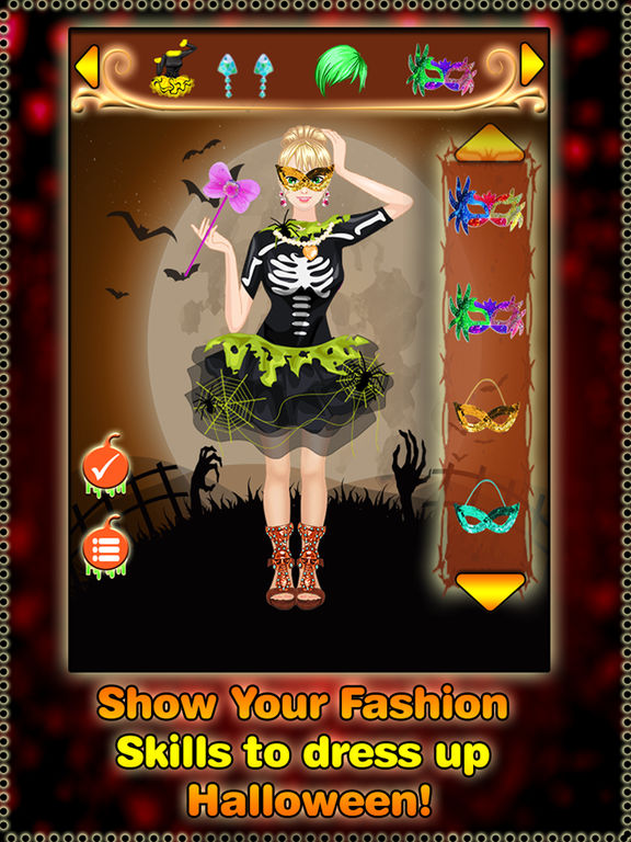 Halloween dress up game - Real Halloween girls screenshot 8
