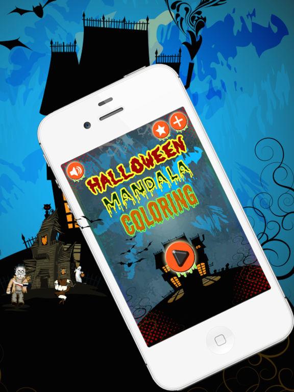 Halloween Mandala Coloring screenshot 6