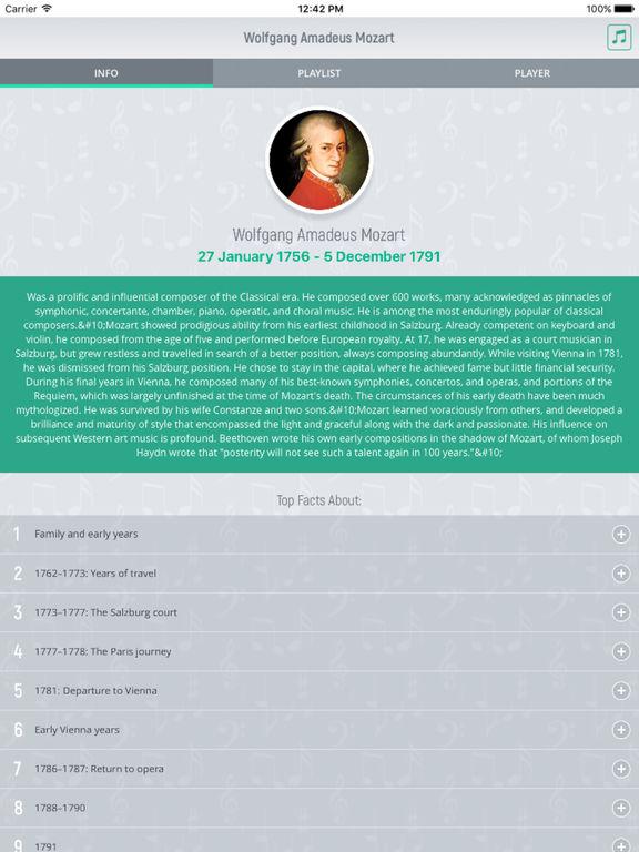 Wolfgang Mozart - Classical Music screenshot 5