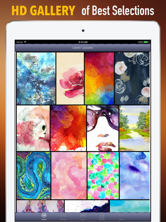 Abstract Watercolor Wallpapers HD- Quotes and Art screenshot 6
