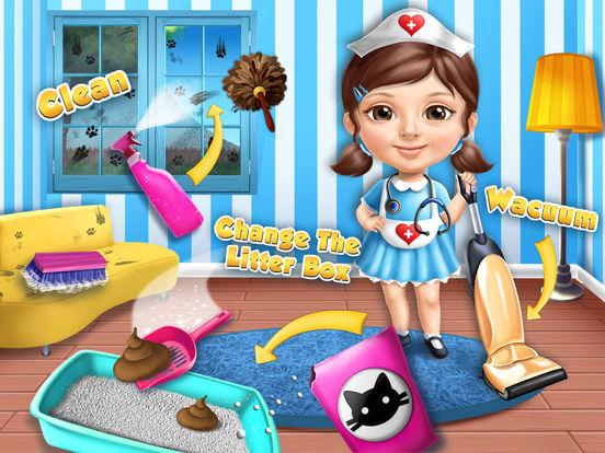 Sweet Baby Girl Cat Shelter – Pet Vet Doctor Care screenshot 10