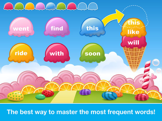 Sight Words Games in Candy Land - Reading for kids screenshot 8