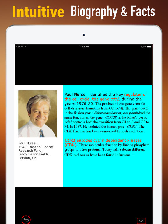 Biography and Quotes for Paul Nurse screenshot 6