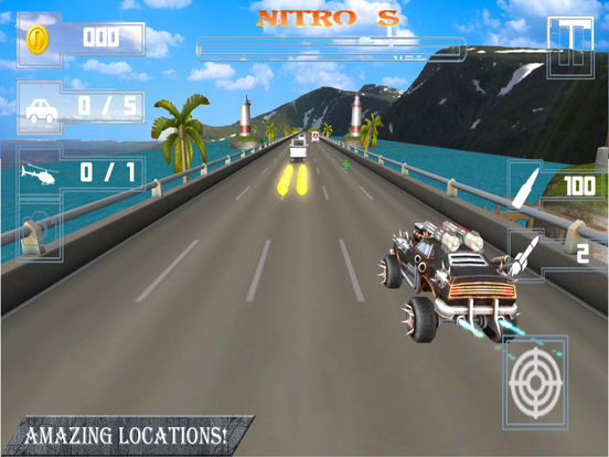 Weapon Car Rider : Highway Shooting Race-r 3D screenshot 6