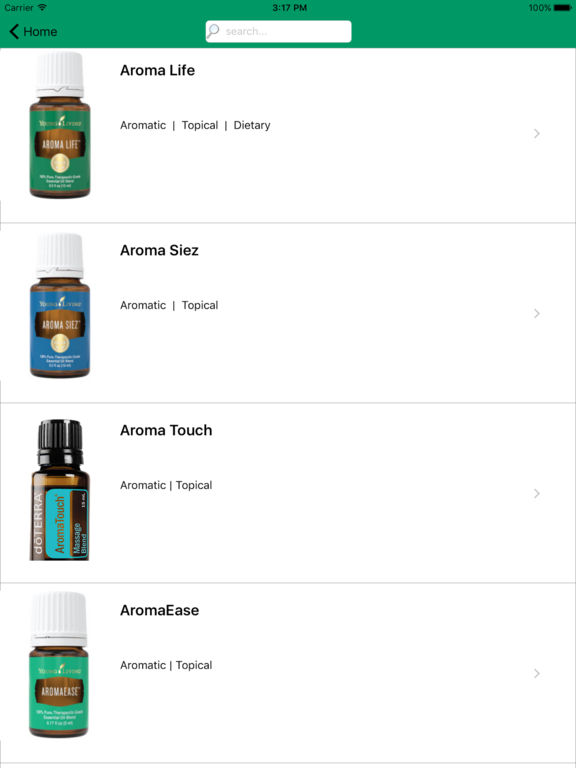 Essential Oils Bar - Ref Guide, Single & Blend Oil screenshot 9