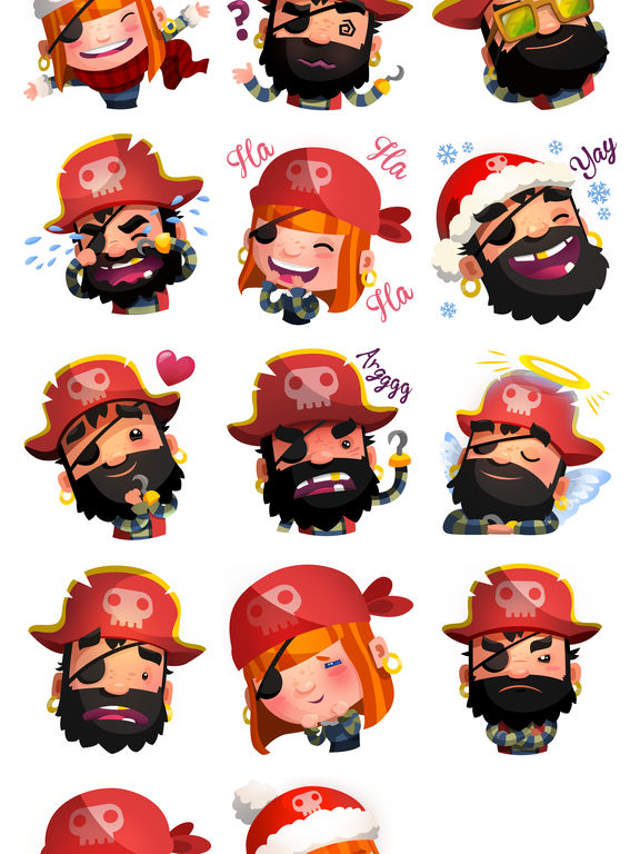 Pirate Kings Animated Stickers for Apple iMessage screenshot 7
