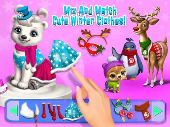 Christmas Animal Hair Salon 2 - No Ads screenshot 8