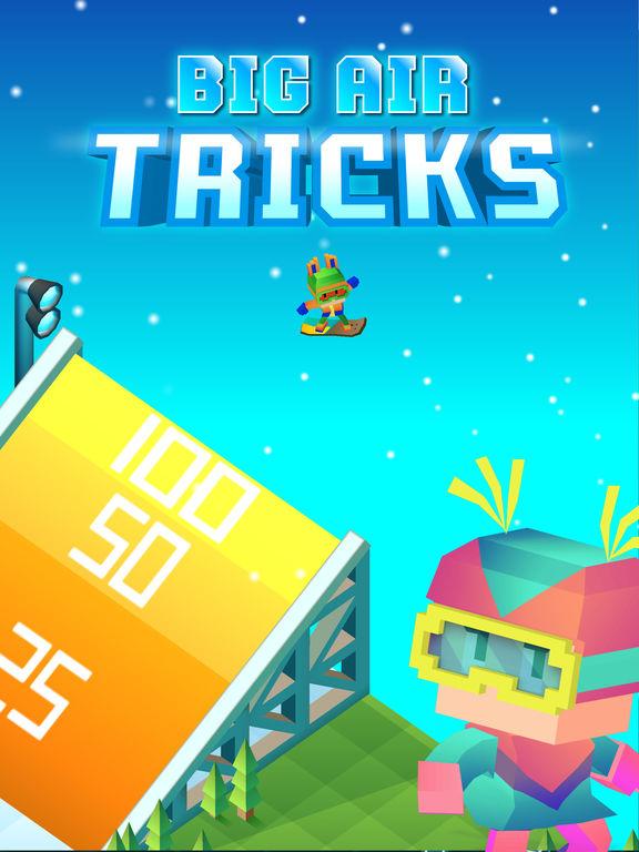 Blocky Snowboarding screenshot 8
